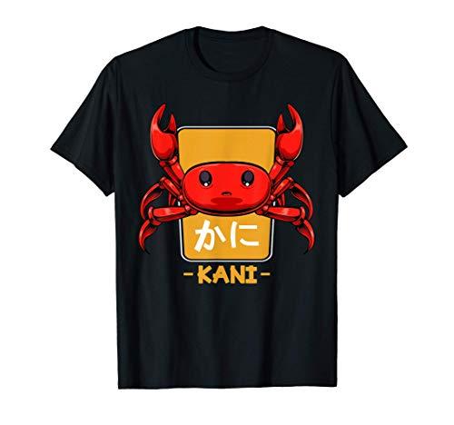 Cangrejo Kani Kanji japonés Kawaii Otaku Comida asiática Camiseta