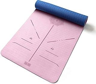 NYKK Exercise Yoga Mat Home Indoor Thickening Yoga Fitness Mat Beginner Yoga Exercise Mat Non-Slip Widening Fitness Yoga E...