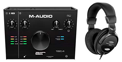 M-Audio AIR 192 4 Interface Set (2-In/2-Out 24/192 USB Audio Interface inkl. Stereo Kopfhörer)