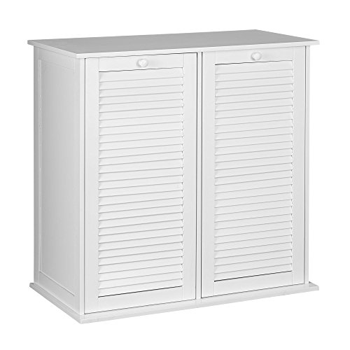 Household Essentials Tilt-Out Laundry Sorter Cabinet with Shutter Front