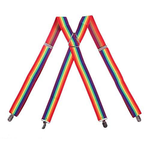 Shukan Fashions - Bretelles - Homme Multicolore RAINBOW STIPS