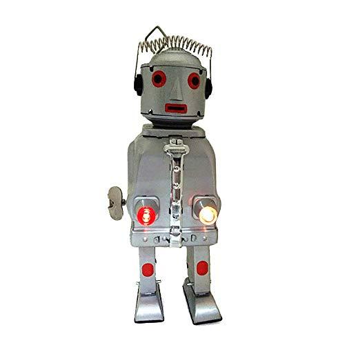 HwaStudio MS645 Vintage Mr Robot The Tin Giocattolo Meccanico Cervello Luce Wind Up Azione Retro Style Adulti da Collezione