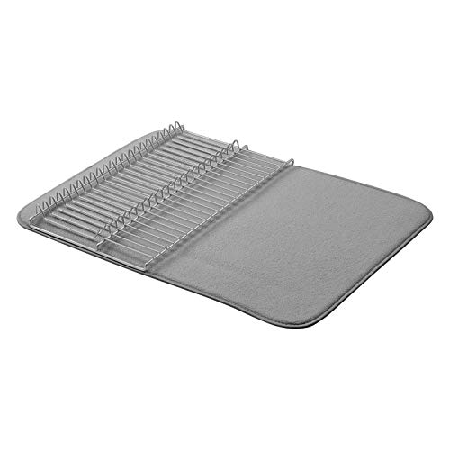AmazonBasics Large Drying Rack  18quotx24quot  Charcoal/Nickel With 2 Mats