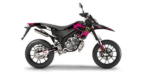 Dekorationsset für Motorrad Cross Derbi Xtreme 50 SPLASH Rosa 2018 bis 2021