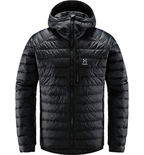 Haglöfs Steppjacke Herren Spire Mimic Hood Insulating, atmungsaktiv, wasserabweisend True Black M M