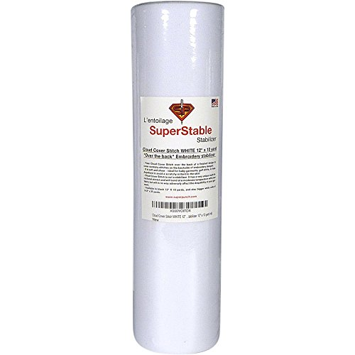 Cloud Cover Stitch White 12 inch x 10 Yard Roll. Over The Back SuperStable Embroidery Stabilizer...