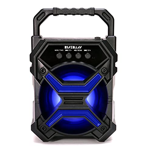 Portable Wireless Bluetooth Speaker with TWS Function - Rechargeable Bluetooth Speaker for iPhone, Android, iPod and More - Mini Speaker with Party Lights, for Hiking, Camping, Picnic and Boating.