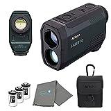 Nikon Laser 50 Laser Rangefinder 6X Magnification Bundle with 3 CR2 Batteries and Lens Cloth
