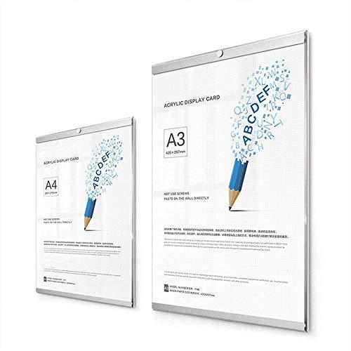 Display-Rahmendokument Zertifikatsrahmen an der Wand montiert ohne Stanzen verwenden Inline-Magnetpaare Vorderseite echte Acrylplattenstärke 3 mm für POS Einzelhandel Fotos Hinweise Wand und