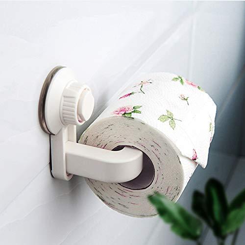 Porta papel higiénico autoadhesivo de aspiración, sin necesidad de taladrar, porta toallas de papel en rollo, se puede utilizar para toallas de papel en rollo de cocina / baño / baño