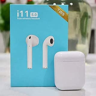 Lizzie i11 5.0 Wireless Earphone with Portable Charging Case Supporting All Smart Phones and Android Phones with Sensor