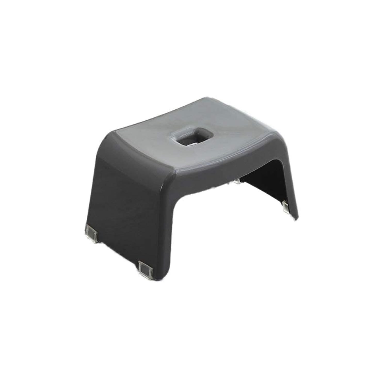 Bath Stool, Plastic Sturdy Shower Stool Home Plastic Stack Stool Kitchen Stool Change Shoe Bench Children's Stool (Color : Gray, Size : 19CM)