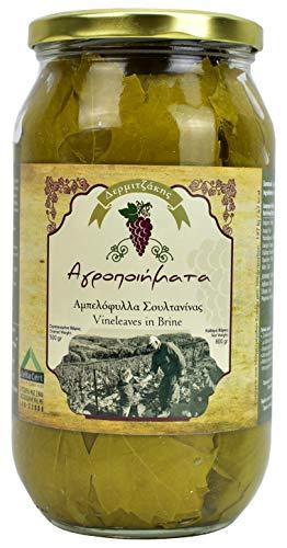 Weinblätter in Salzlake aus Kreta | Neue Ernte | Handverlesene griechische Weinblätter (800)