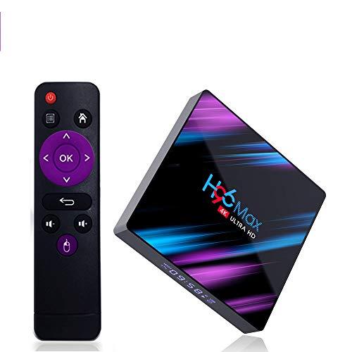 H96 Max Android 10 TV Box [4 GB RAM+64 GB ROM] Caja TV Bluetooth 4.0 Android TV Box USB 3.0 RK3318 Quad-Core 64 bit WiFi 2.4G/5G LAN100M 4K Android Box Smart TV Box
