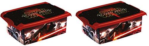2 x boîte à jouets jouet Boîte Fashion Box Star Wars 10 L