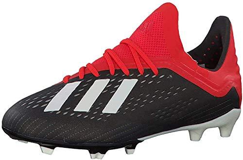 Adidas X 18.1 FG J, Botas de fútbol Unisex Adulto, Multicolor (Negbás/Ftwbla/Rojact 000), 38 2/3 EU ⭐