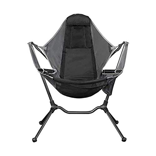 PuuuK Outdoor Folding Chair Leisure Director Chair Comfortable Backrest Camping Relaxing Recliner,Gray