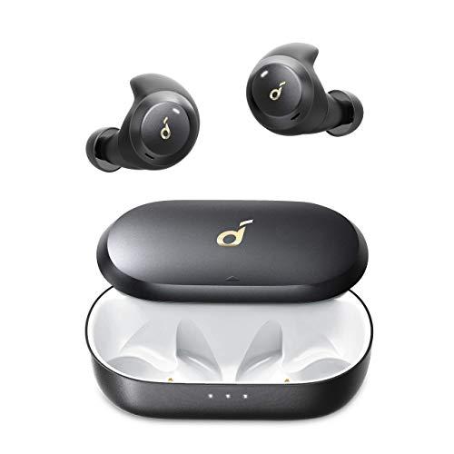 Anker Soundcore Spirit Dot 2 Bluetooth Kopfhörer, Tiefer Bass, Klares Klangprofil, IPX7 wasserdicht & schweißfest, Blitzschnelles Aufladen, Bequeme AirWings, Mini Ohrhörer für Sport (Generalüberholt)