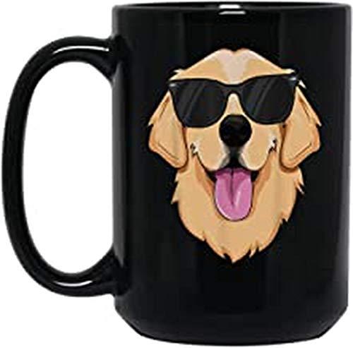 Golden Retriever For Kids Boys Girls Sunglasses Pet Best Present On Birthday Chrismas And New Year 15oz Black Mug
