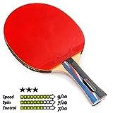 Meteor Racchetta Tennis Tavolo Ping-Pong rachetta Rachetta da Ping Pong Table Tennis Tennistavolo Ideale per Bambini Ragazzi e Adulti per Allenamento e Giochi ricreativi (3 Estrellas)