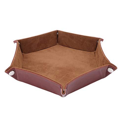 LIGHTBLUE Flannel Dice Tray,Foldable PU Tray Double Sided Dice Tray Dice Tray Dices Rolling Holder