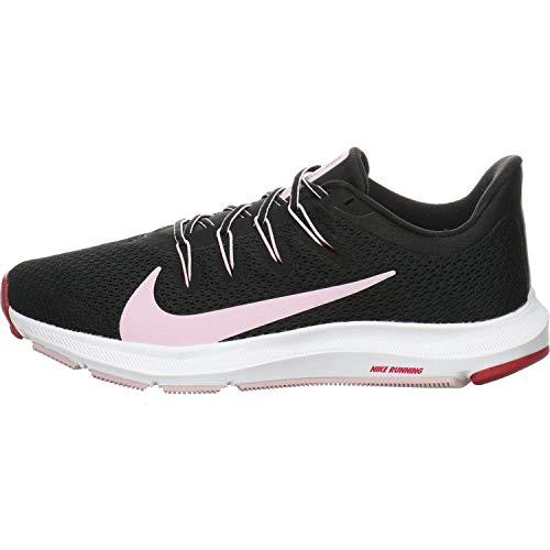 Nike Wmns Quest 2, Zapatilla de Correr para Mujer, Negro/Helado Lila/Noble Rojo, 37.5 EU