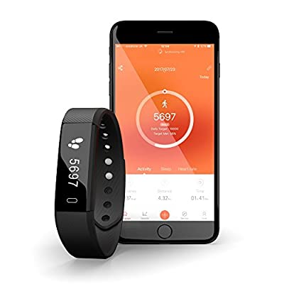 Activity Tracker with Heart Rate Monitor [Desire2 Compete Coach] Waterproof IP67 Bluetooth 4.0 Smart Bracelet Watch Wristband Sleep Monitor/ Step Tracker/ Calorie Counter / Call SMS Whatsapp Notifications Push / Anti Lost / Selfie Remote/ Touch Control fo