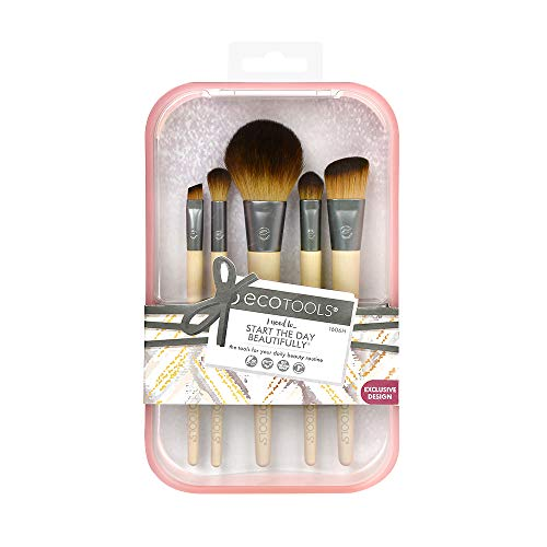 EcoTools Start the Day Beautifully Make-up-Pinselset, rosa