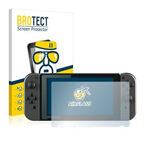 brotect Pellicola Protettiva Vetro Compatibile con Nintendo Switch Schermo Protezione, Estrema Durezza 9H, Anti-Impronte, AirGlass