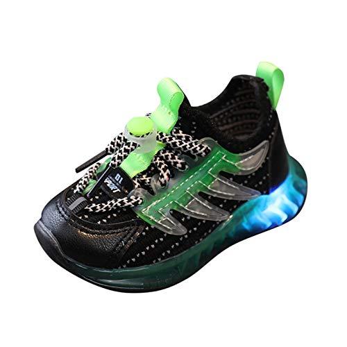 YWLINK Zapatos para NiñOs,Zapatos con Flash Led Calzado Deportivo Al Aire Libre Zapatos De Correr Antideslizante Fondo Blando Transpirable Ciclismo Zapatos De Playa Hueco Y CóModo Zapatos De Lona