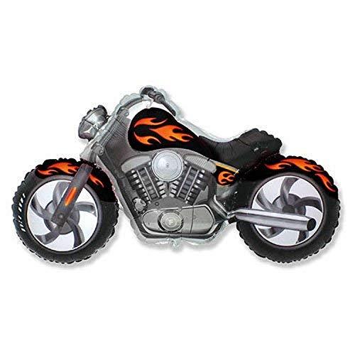 Party Brands 901731 Custom Motorcycle, 45', Black