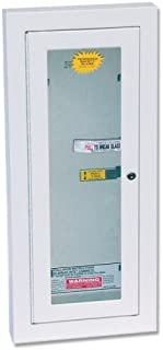 Kidde Semi-Recessed 10-Pound Fire Extinguisher Cabinet with Lock | Model 468047