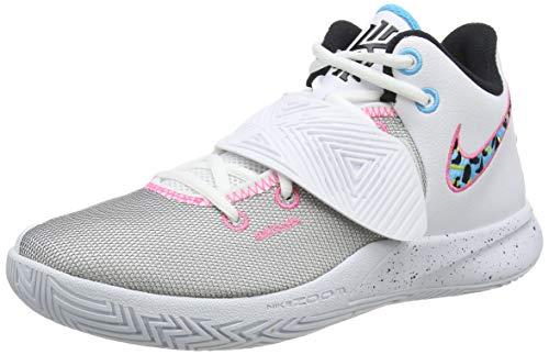 Nike Herren Kyrie Flytrap III Basketball Shoe, White/Black-Blue Fury-Opti Yellow, 42.5 EU