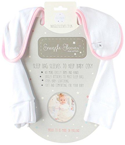 Snuggle mouwen slaapzakken (0-3 maanden, roze)