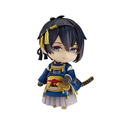 XUEKUN Touken Ranbu Online Q Version Mikazuki Munechika 10cm Figura De Acción Estatua Animado Caracteres Decoración Modelo Infantil Muñeca Juguete Regalo Mikazuki Munechika