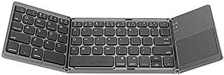 لوح مفاتيح صغير للجيب قابل للطي بلوتوث مع لوح اللمس يعمل على وندوز و اي او اس والاندرويد