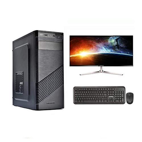 """PC FISSO INTEL QUAD CORE I7-16 GB RAM - SSD 480 GB - WINDOWS 10 PRO - SCHEDA VIDEO NVIDIA GT 730 4 GB - WI-FI - MONITOR 24"""" - MOUSE E TASTIERA"""