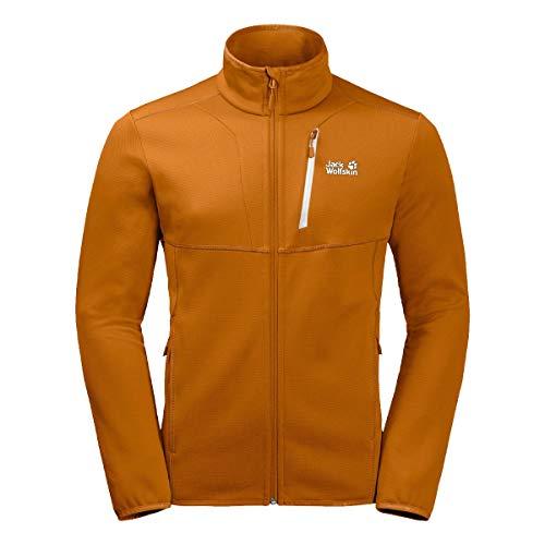 Jack Wolfskin Kiewa Homme Fleece Veste, Rusty Orange, FR : XL (Taille Fabricant : 5)
