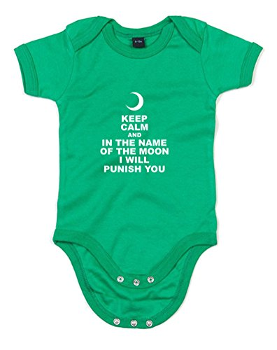 Print Wear Clothing in The Name of The Moon, Imprimé bébé Grandir - Vert/Blanc 0-3 Mois