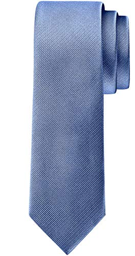 BomGuard 6cm herren-krawatte matt jeans-blau schmale weihnachten seide damen männer frauen