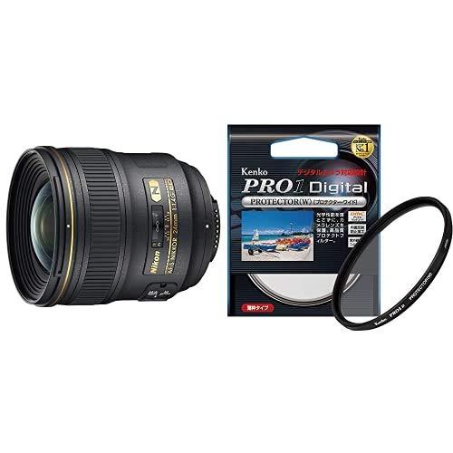 Nikon 単焦点レンズ AF-S NIKKOR 24mm f/1.4G ED フルサイズ対応 + Kenko 77mm レンズフィルター PRO1D プロテクター レンズ保護用 薄枠 日本製 252772