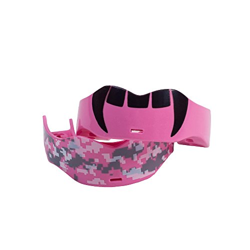 Soldier Sports Fang & Camo Mouthguard, One Size, Pink