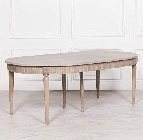 Mesa de comedor extensible de madera rústica