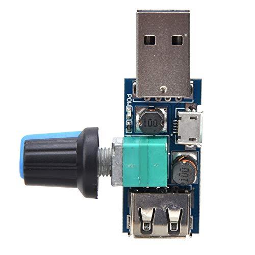 Módulo de conmutación de ventilador USB, regulador de ventilador USB 5W DC4~12V a DC2.5~8.0V (2 piezas)