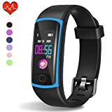 HuaWise Fitness Tracker, Waterproof Activity Tracker with Heart Rate Monitor and Sleep Monitor, Waterproof Pedometer, Step Counter, Calories Counter for Android & iPhon