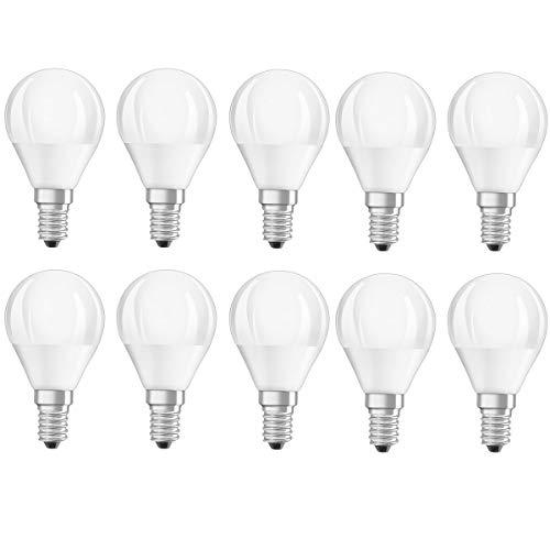 Osram - Base LED Classic P40 E14, 5 W = 40 W, 470 lm, 80 Ra, luce bianca calda, 2700 K, nondim A+ 10 pezzi