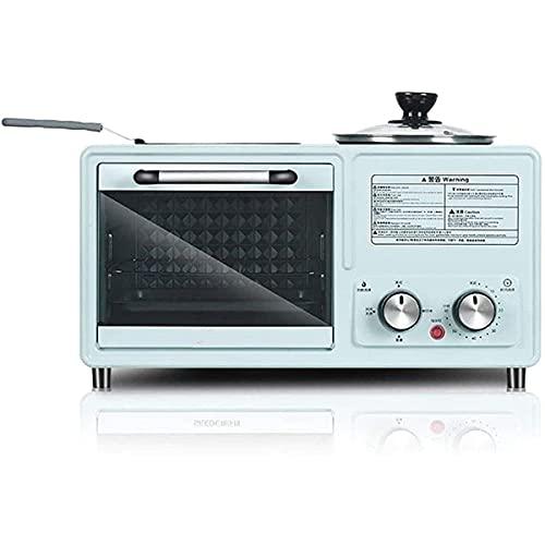Mini Hornos Cocina Mini Horno Tostador 8 Litros Horno Eléctrico 800W Potencia Con Temporizador,Compartimiento Interno De Cerámica Esmaltada,Fácil De Limpiar Y Difícil De Rayar