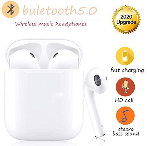 Auricolare Bluetooth 5.0, auricolare bluetooth senza fili in-ear, auricolare in-ear sportivo biauricolare con accoppiamento automatico TWS, adatto per Samsung/iPhone/Android/AirPods