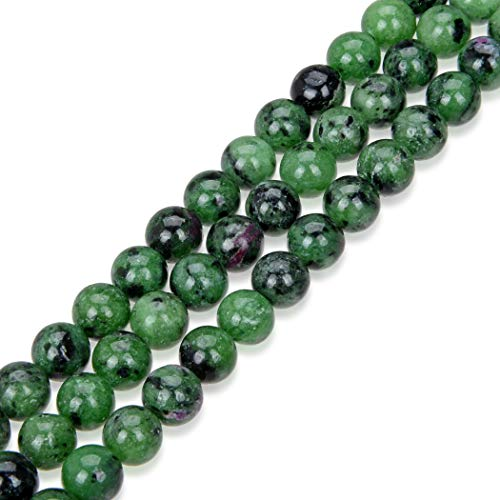 1 Strand Top Quality Natural Ruby Zoisite Gemstone 8mm Round Loose Stone Beads (~ 44-47pcs) for Jewelry Craft Making GY13-8