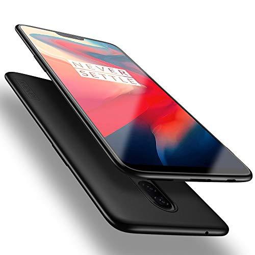 X-level für OnePlus 6 Hülle, [Guardian Serie] Soft Flex Silikon Premium TPU Echtes Handygefühl Handyhülle Schutzhülle Kompatibel mit OnePlus 6 Hülle Cover - Schwarz